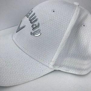 46c61b510 Callaway Men's Liquid Metal Golf Hat White Silver